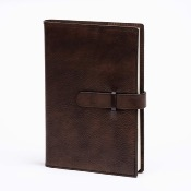 Refillable notebook 9x13cm with buckle