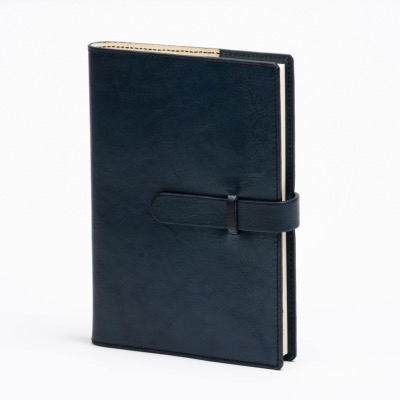 Refillable notebook 15x21cm with buckle